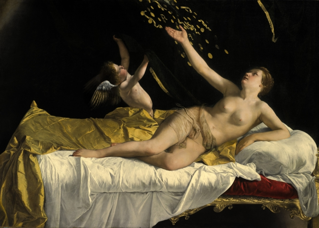 Orazio Gentileschi, Danae, c. 1621. Collection of the J. Paul Getty Museum.