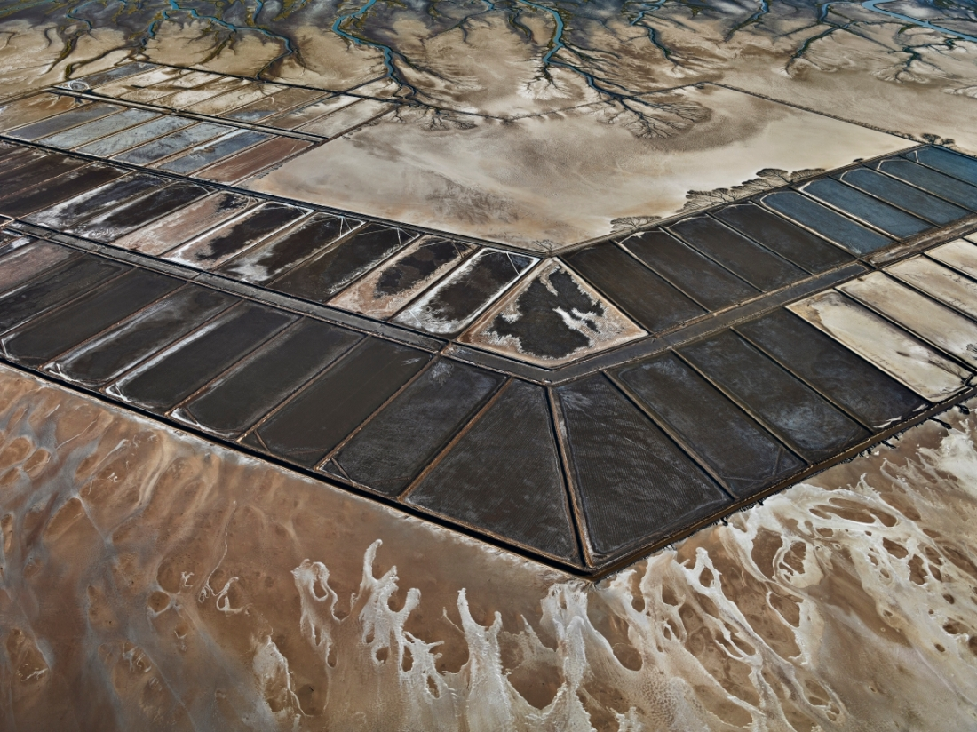 Edward Burtynsky, Colorado River Delta #7, Abandoned Shrimp Farm, Sonora, Mexico, 2012.