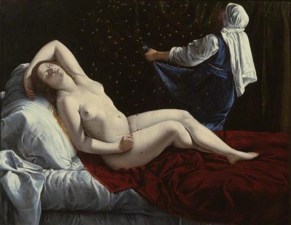 Artemisia Gentileschi, Danae, c. 1612.