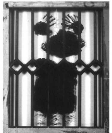 David Hammons, Black Boy's Window, 1969.