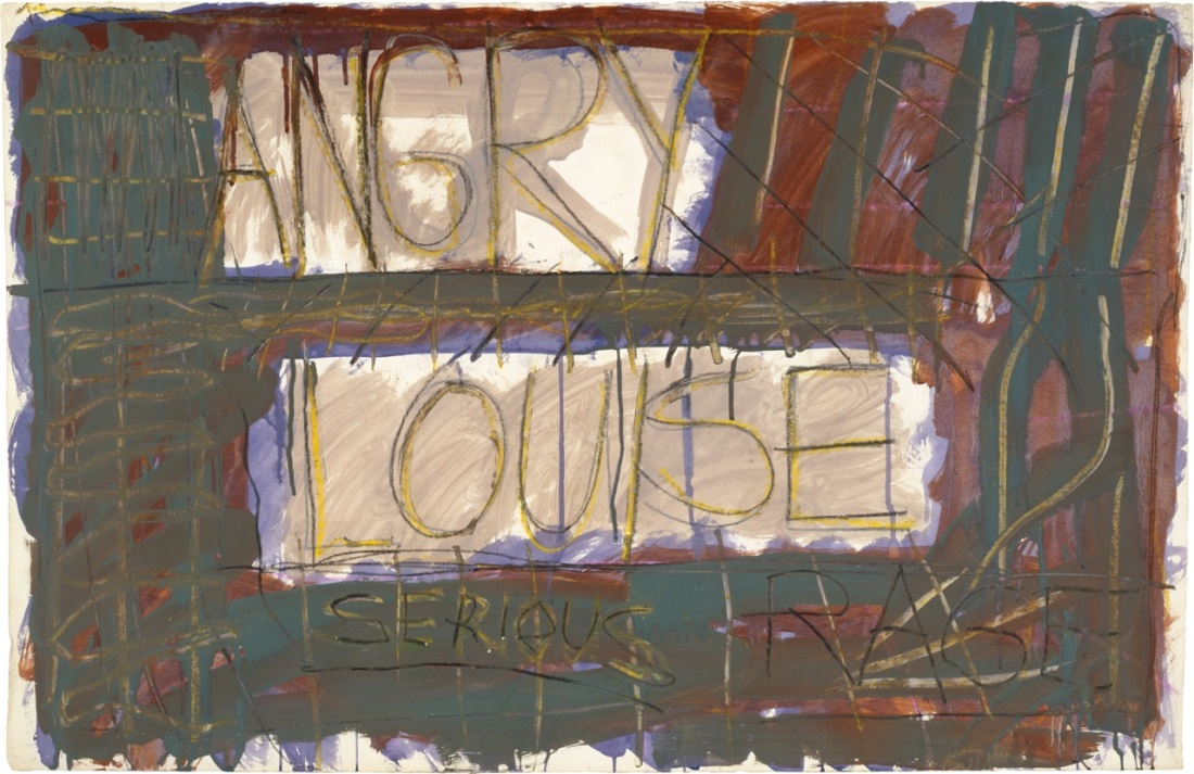 Louise Fishman, Angry Louise, 1973.