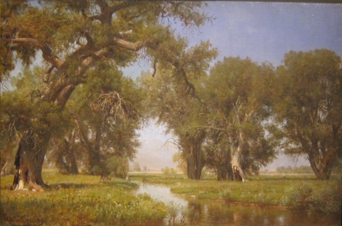 Worthington Whittredge, On the Cache La Poudre River, Colorado, 1871.