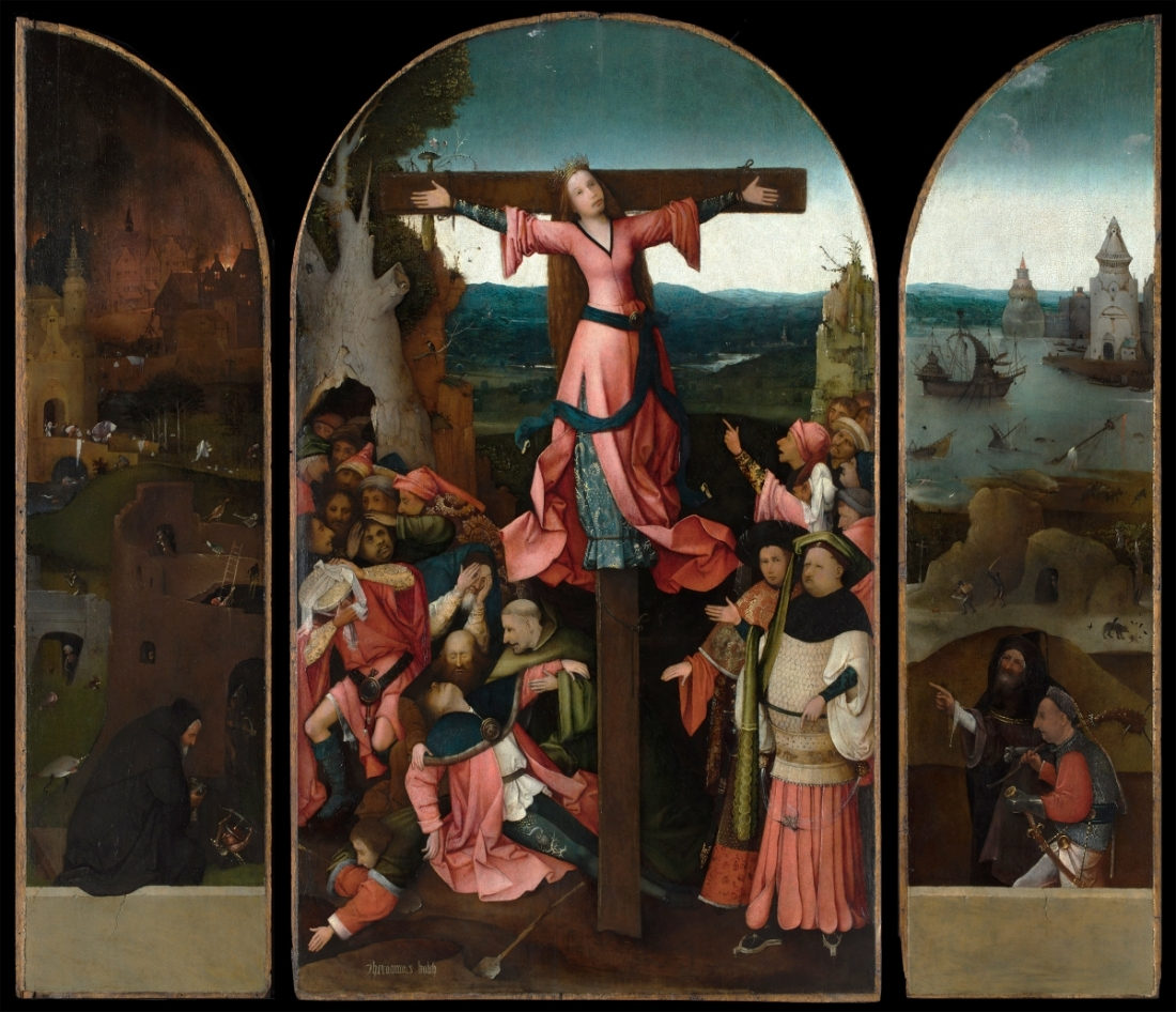 Hieronymous Bosch, St. Wilgefortis Triptych, after treatment, ca. 1495-1505.
