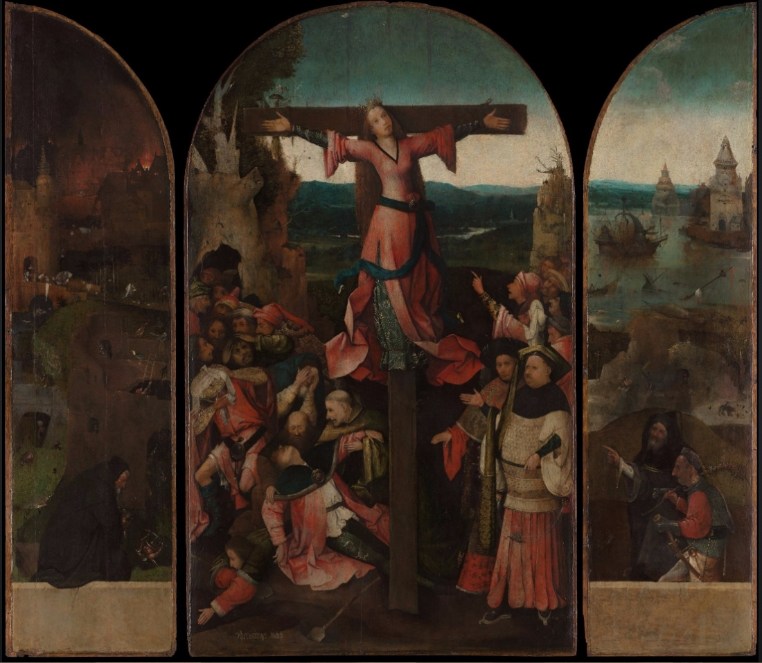 Hieronymous Bosch, St. Wilgefortis Triptych before conservation.