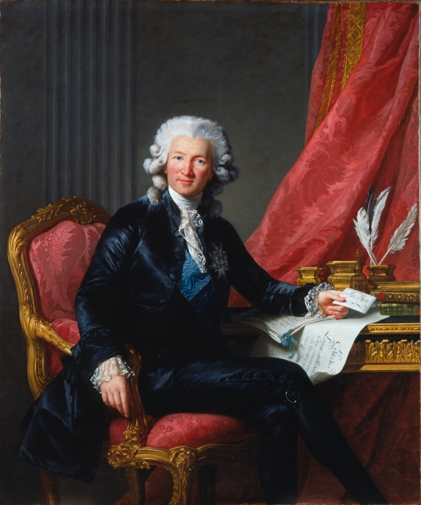 Elisabeth Louise Vigée Le Brun, Charles Alexandre de Calonne, 1784.