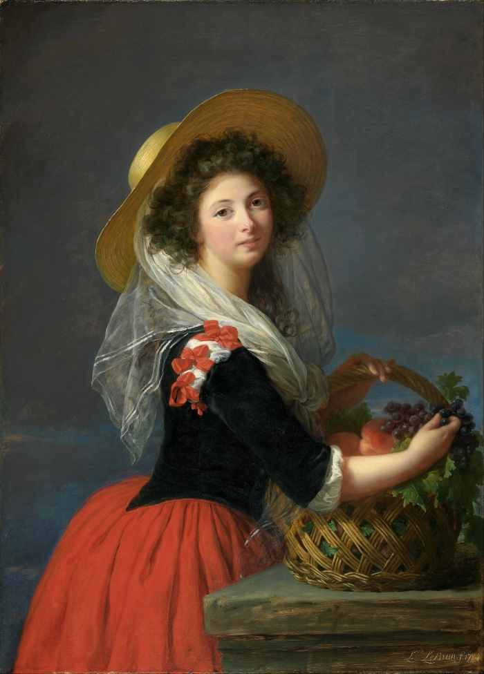 Elisabeth Louise Vigée Le Brun, The Comtesse de Gramont Caderousse Gathering Grapes, 1784.