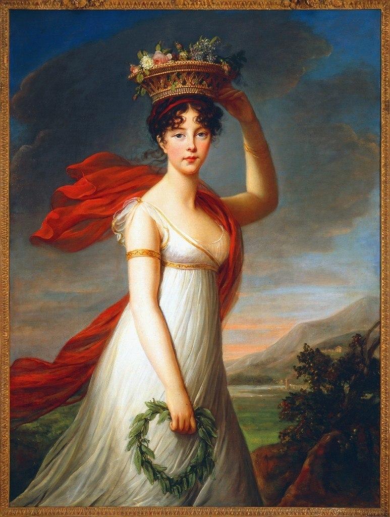 Elisabeth Louise Vigée Le Brun, Julie Le Brun as Flora, ca. 1799.