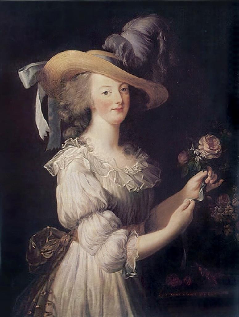Elisabeth Louise Vigée Le Brun, Marie Antoinette in a Chemise Dress, 1783.