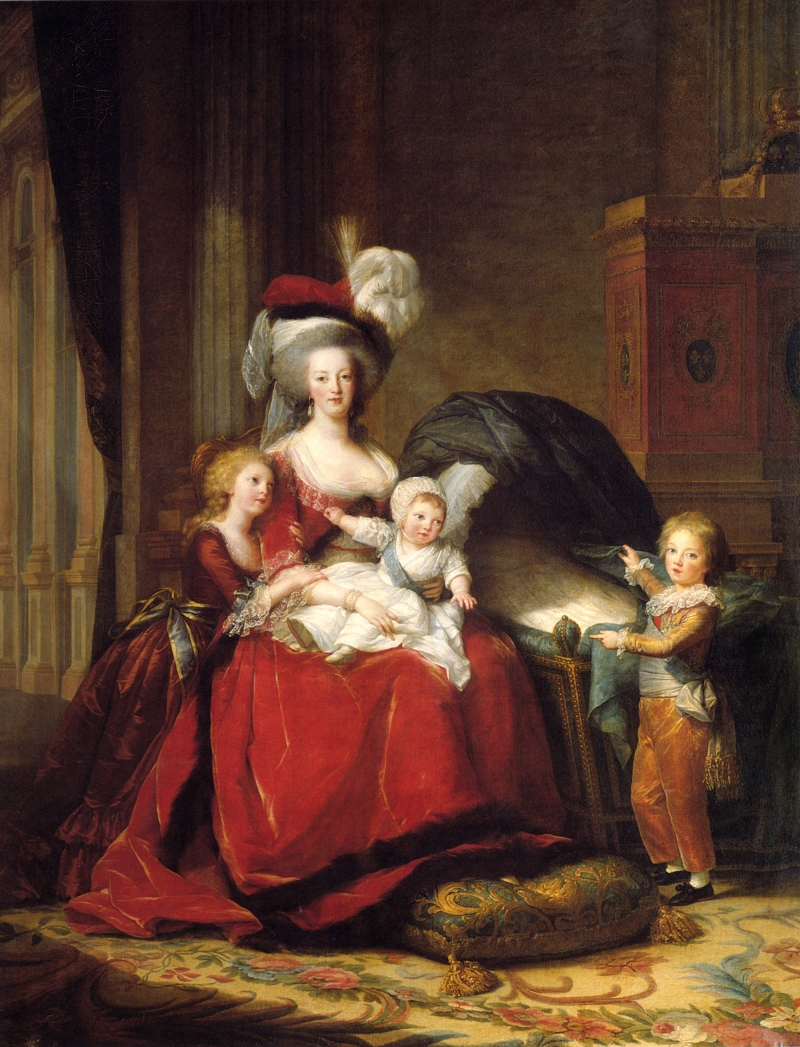 Elisabeth Louise Vigée Le Brun, Marie Antoinette and Her Children, 1787.
