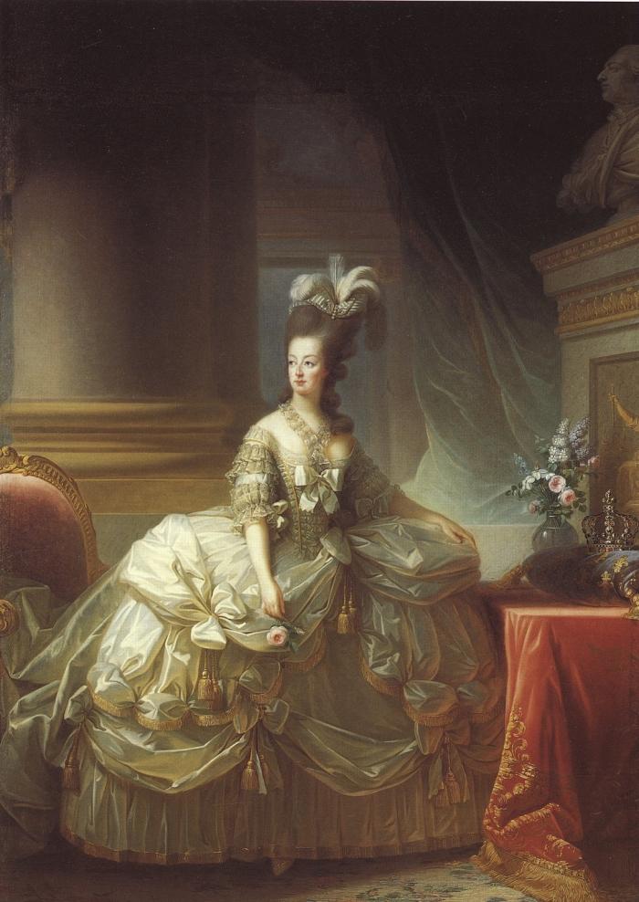 Elisabeth Louise Vigée Le Brun, Marie Antoinette in Court Dress, 1778.
