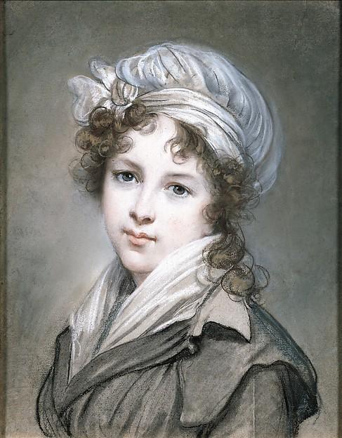 Elisabeth Louise Vigée Le Brun, Self-Portrait in Traveling Costume, 1789-90.