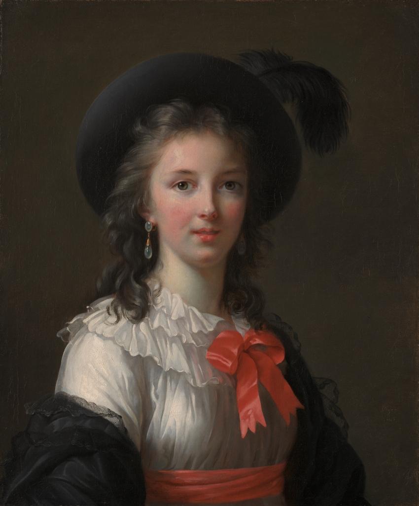 Elisabeth Louise Vigée Le Brun, Self-Portrait with Cerise Ribbons, ca. 1782.