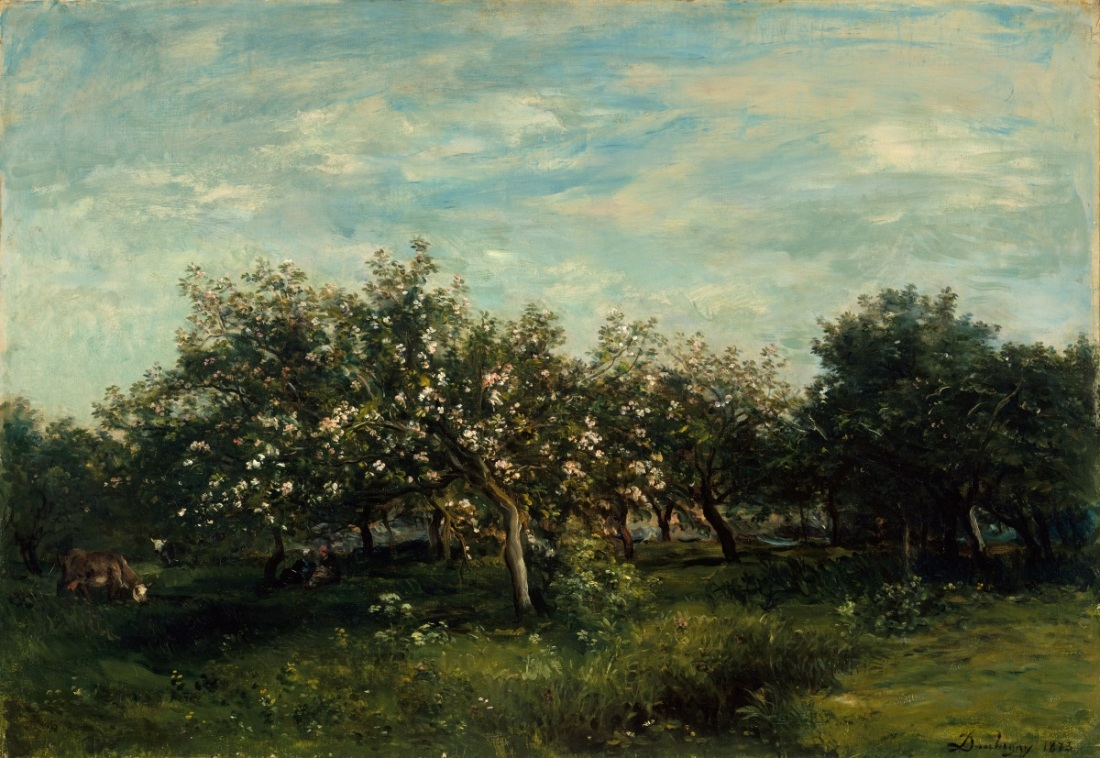 Charles-Francois Daubigny, Apple Blossoms, 1873.