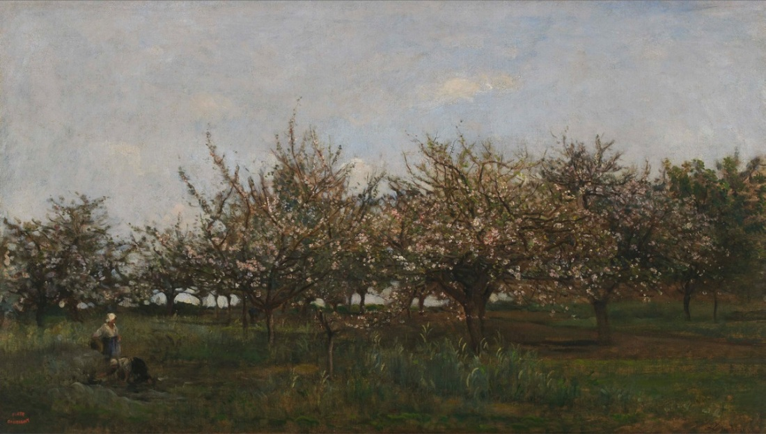 Charles-Francois Daubigny, Apple Trees in Normandy, c. 1865-67.