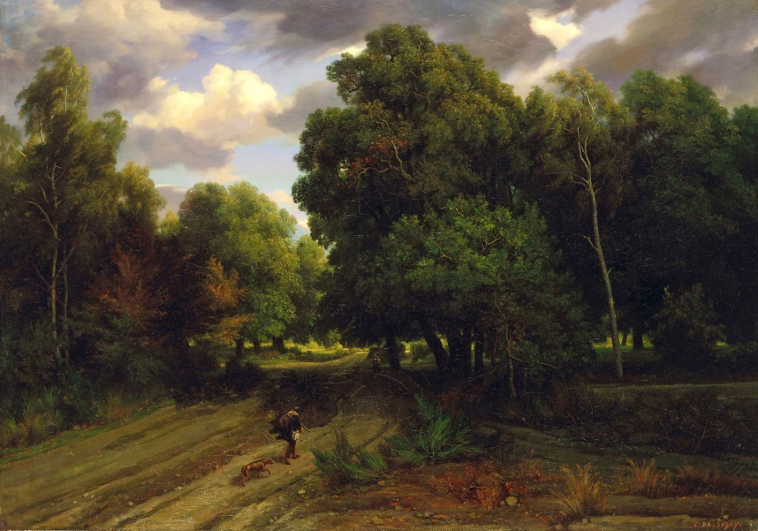 Charles-Francois Daubigny, Crossroads of the Eagle's Nest, Forest of Fontainebleau, 1843-44.