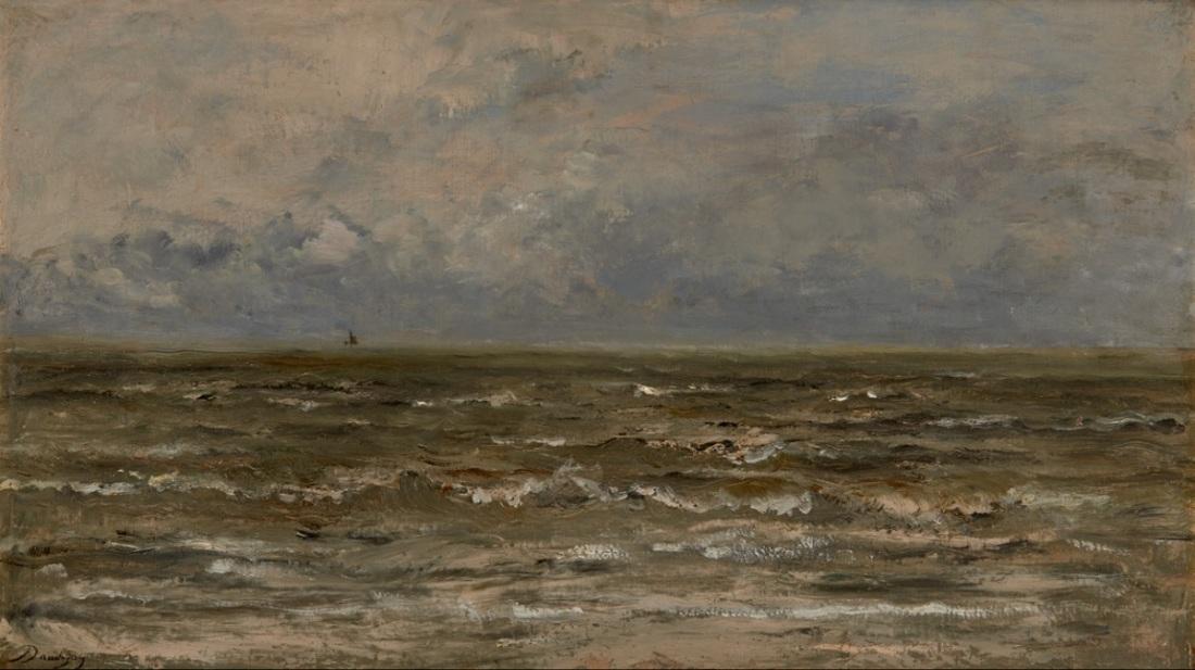 Charles-Francois Daubigny, Seascape, c. 1874.
