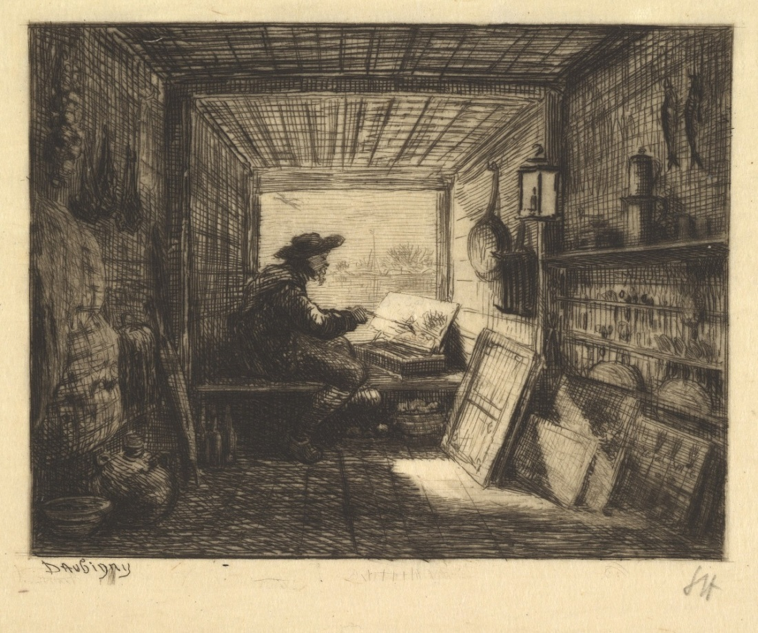 Charles-Francois Daubigny, The Boat Studio, 1862.