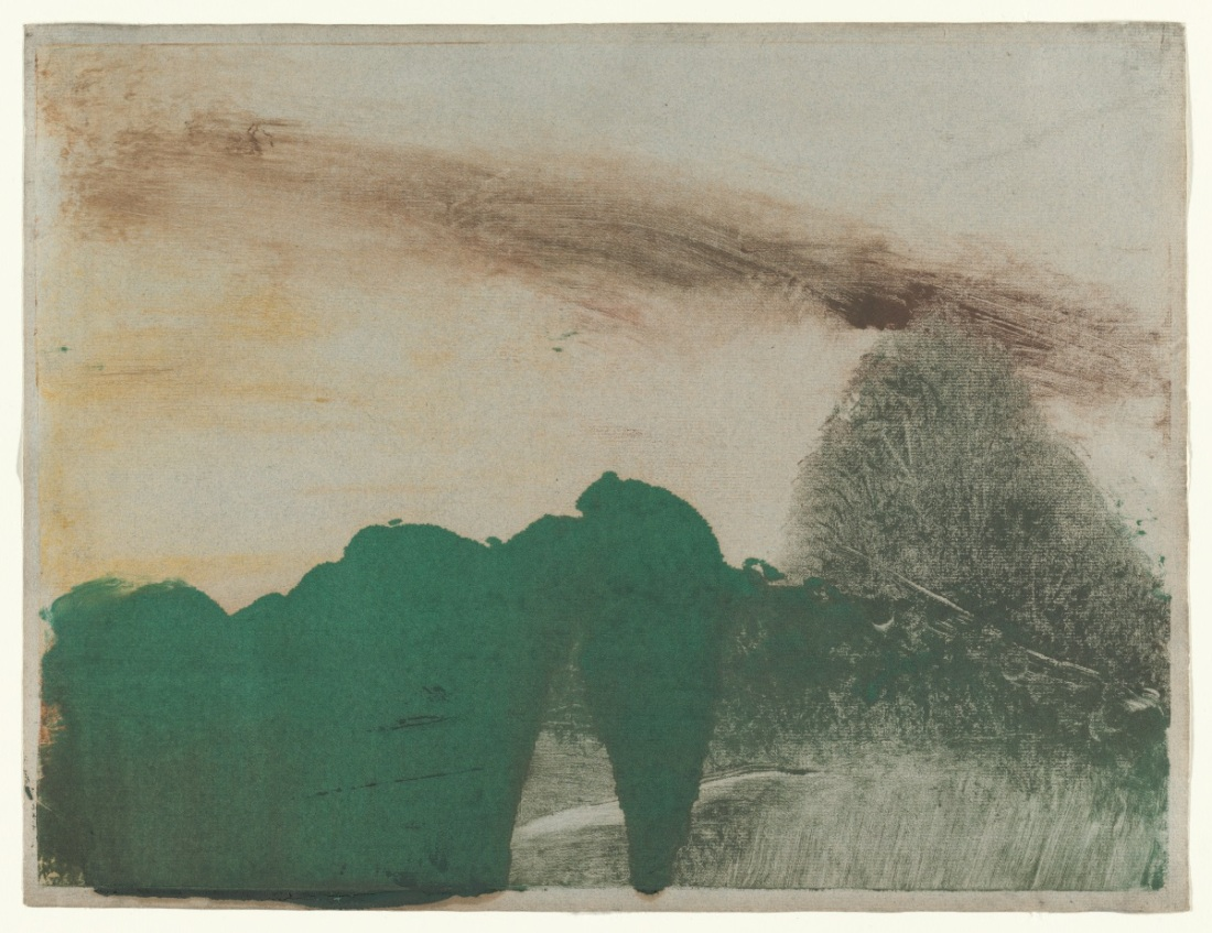 Edgar Degas, Forest in the Mountains, c. 1890.