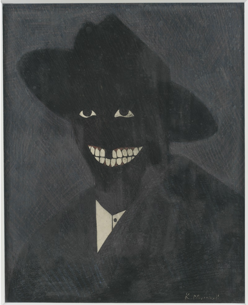 Kerry James Marshall, A Portrait of the Artist as a Shadow of His Former Self, 1980.
