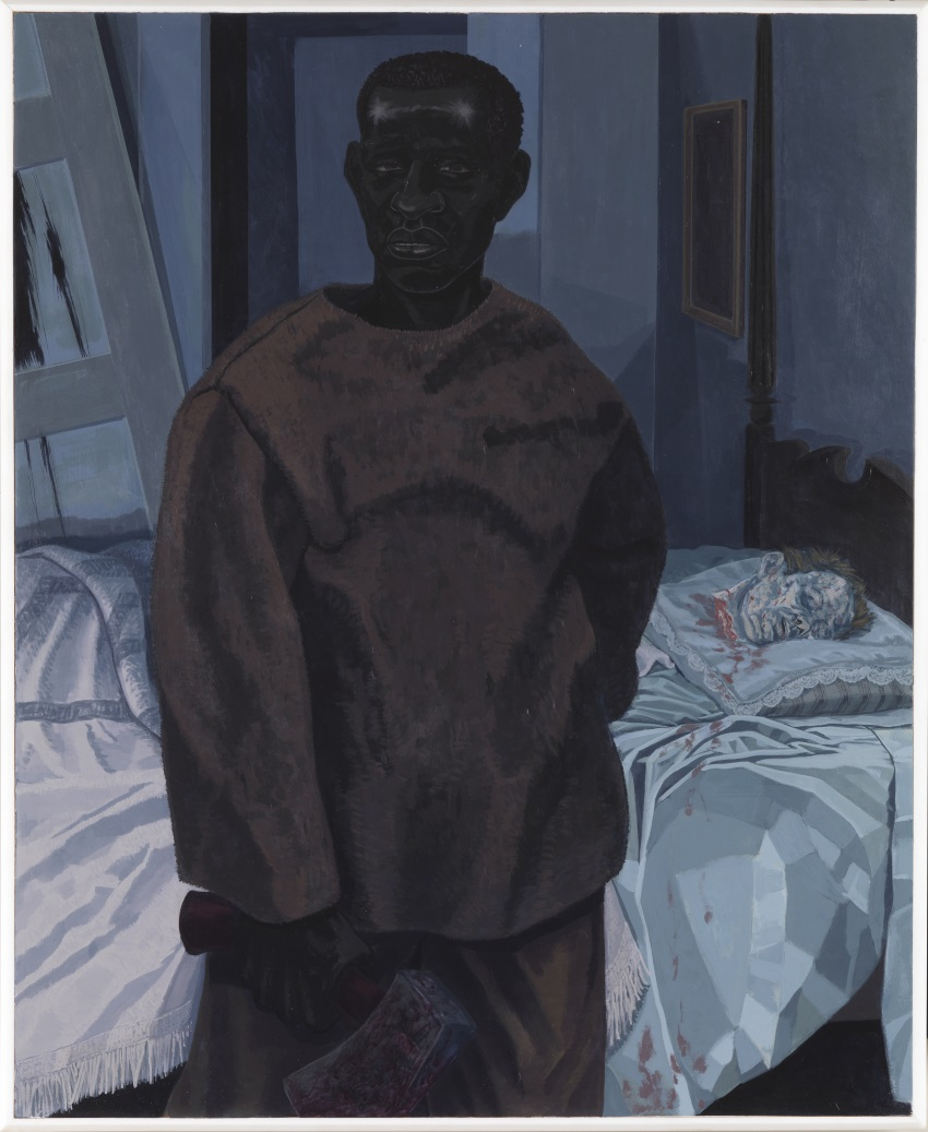 Kerry James Marshall, Portrait of Nat Turner with the Head of His Master, 2011.