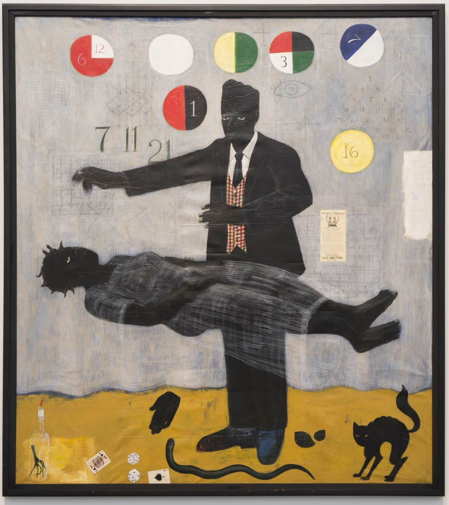 Kerry James Marshall, When Frustration Threatens Desire, 1990.