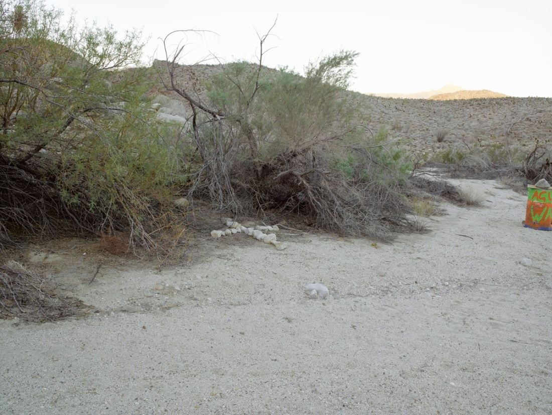 Richard Misrach, Migrant grave site, Carrizo Creek Gorge, California, 2014.