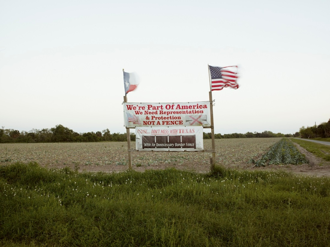 Richard Misrach, Protest sign, Brownsville, Texas, 2014.