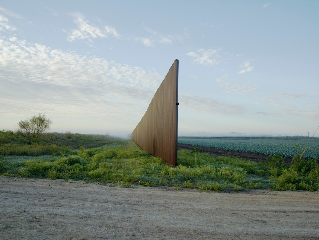 Richard Misrach, Wall, Brownsville, Texas, 2015.