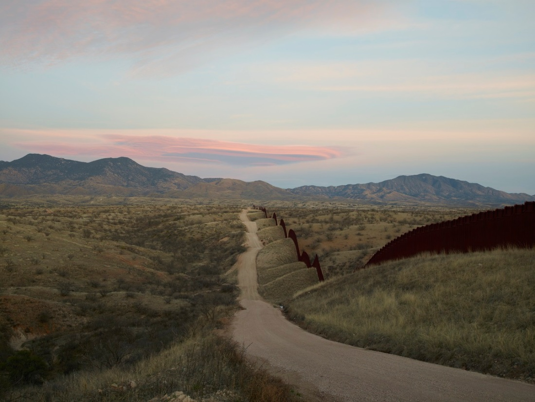 Richard Misrach, Wall, east of Nogales, Arizona, 2015, from Border Cantos (Aperture, 2016).