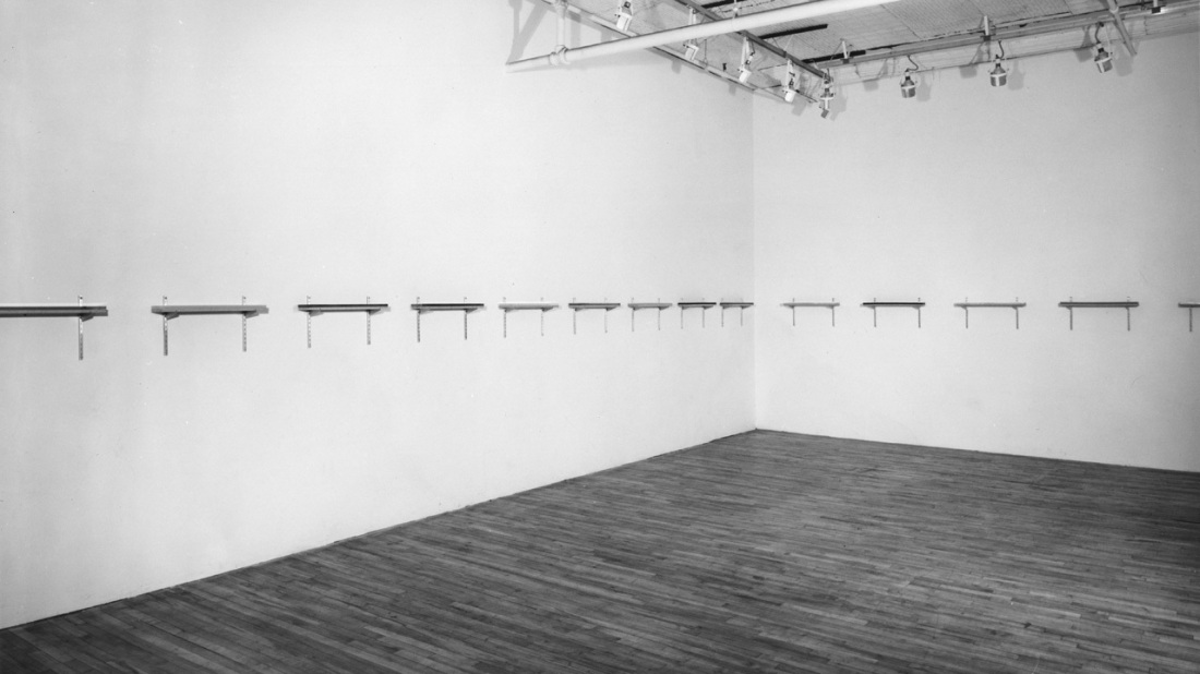Joel Shapiro, Untitled, 1970. Installation view at Paula Cooper Gallery, New York City.