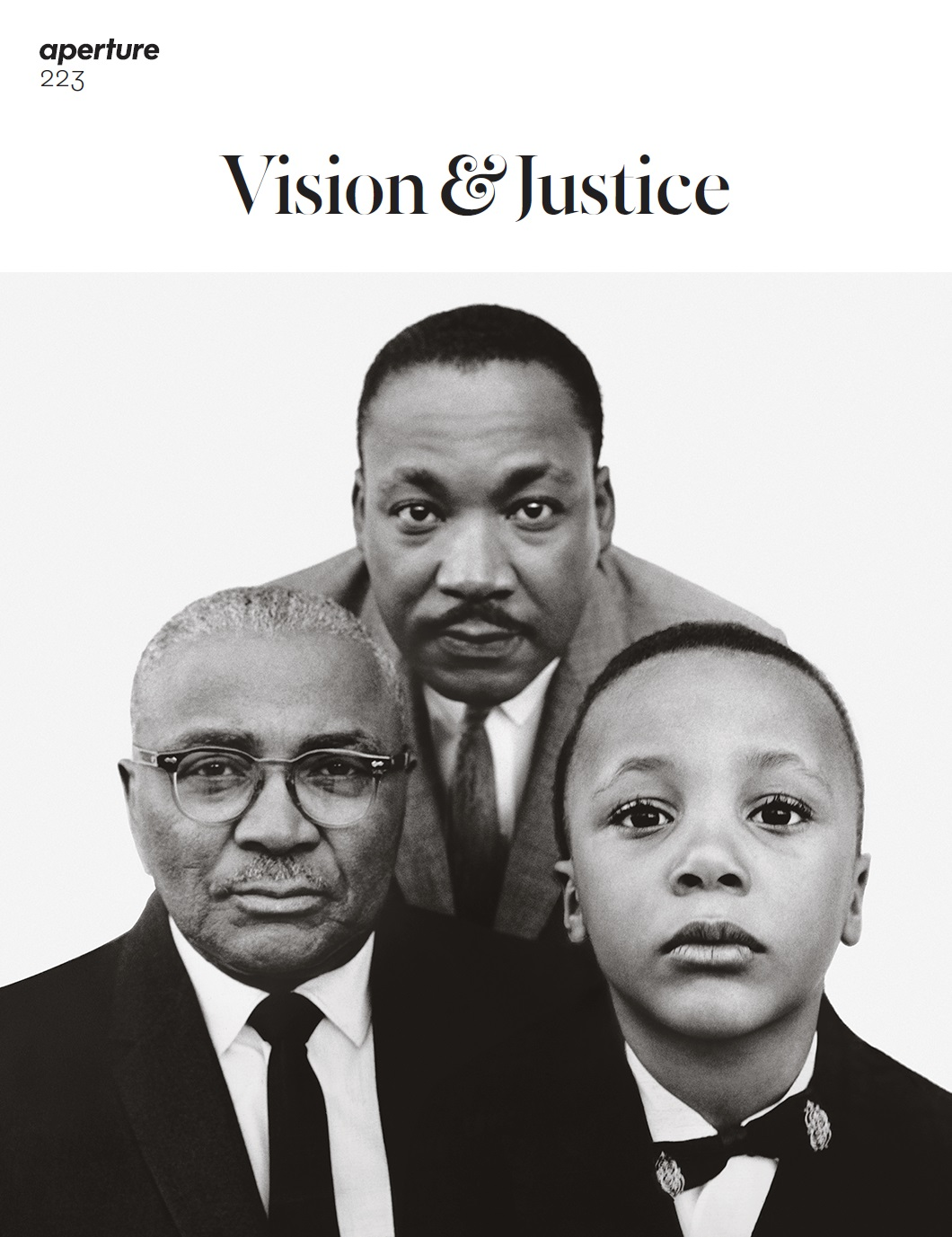 Cover of Aperture #223, Summer 2016, Vision & Justice. Photograph by Richard Avedon.