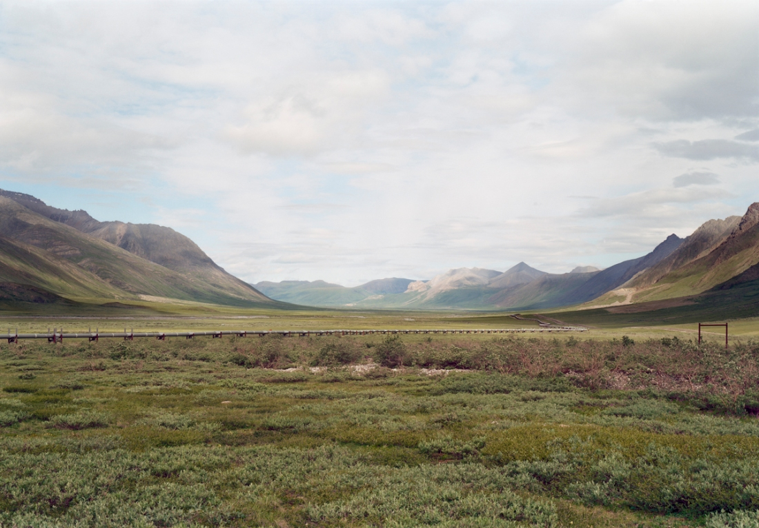 Victoria Sambunaris, Untitled (Alaskan pipeline at Atigun Pass), Brooks Range, AK, 2003.