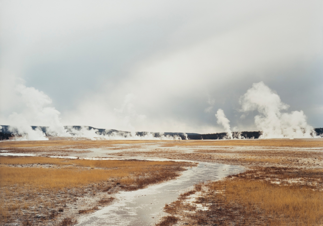 Victoria Sambunaris, Untitled (Distant steam vents), Yellowstone National Park, 2008.