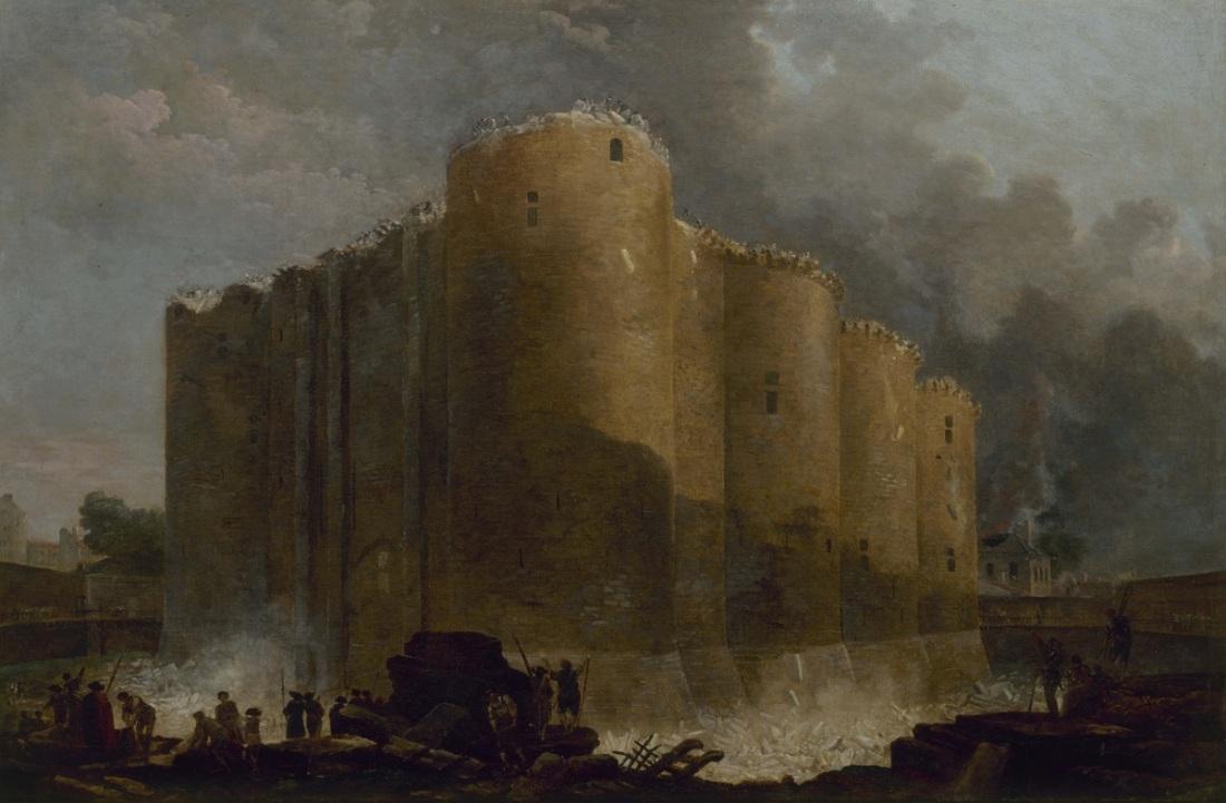 """Hubert Robert, """"La Bastille, dans les premiers jours de sa dÈmolition, 20 juillet 1789,"""" 1789."""