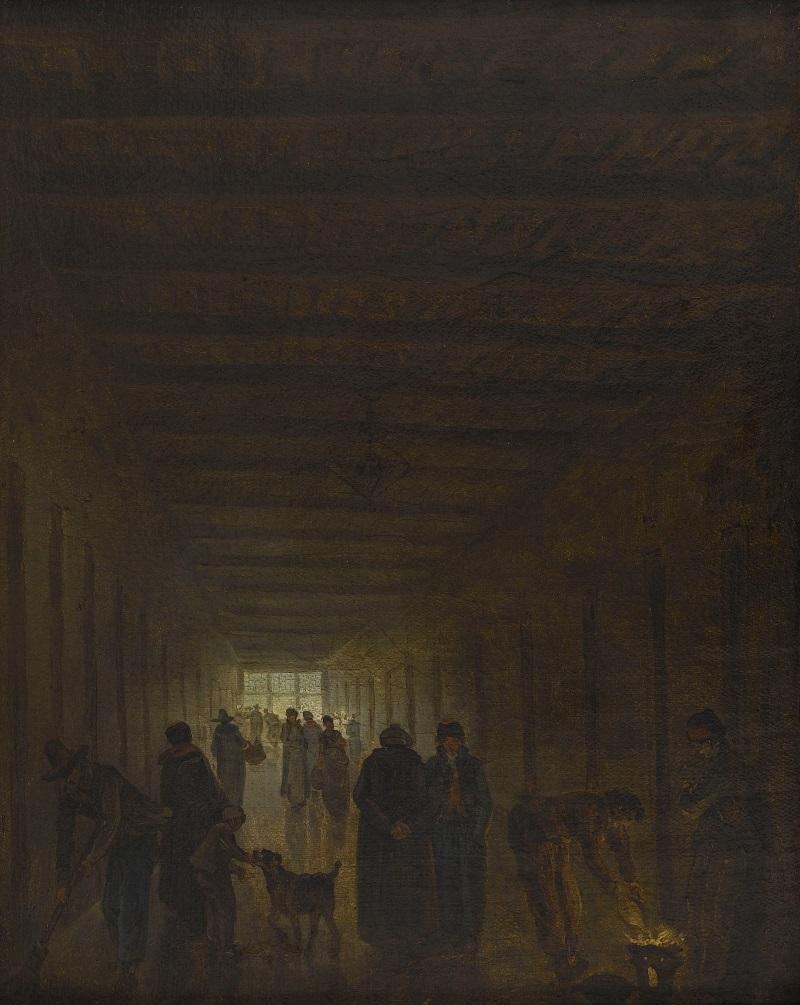 Hubert Robert, Corridor de la prison Saint-Lazare, 1793.
