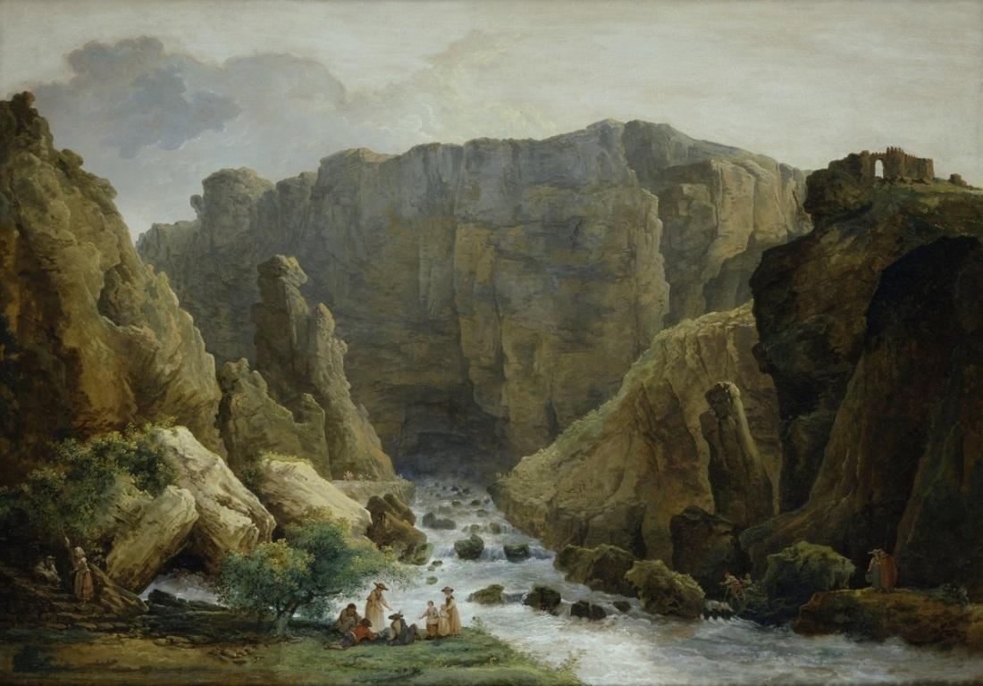 Hubert Robert, Fontaine-de-Vaucluse, 1783.