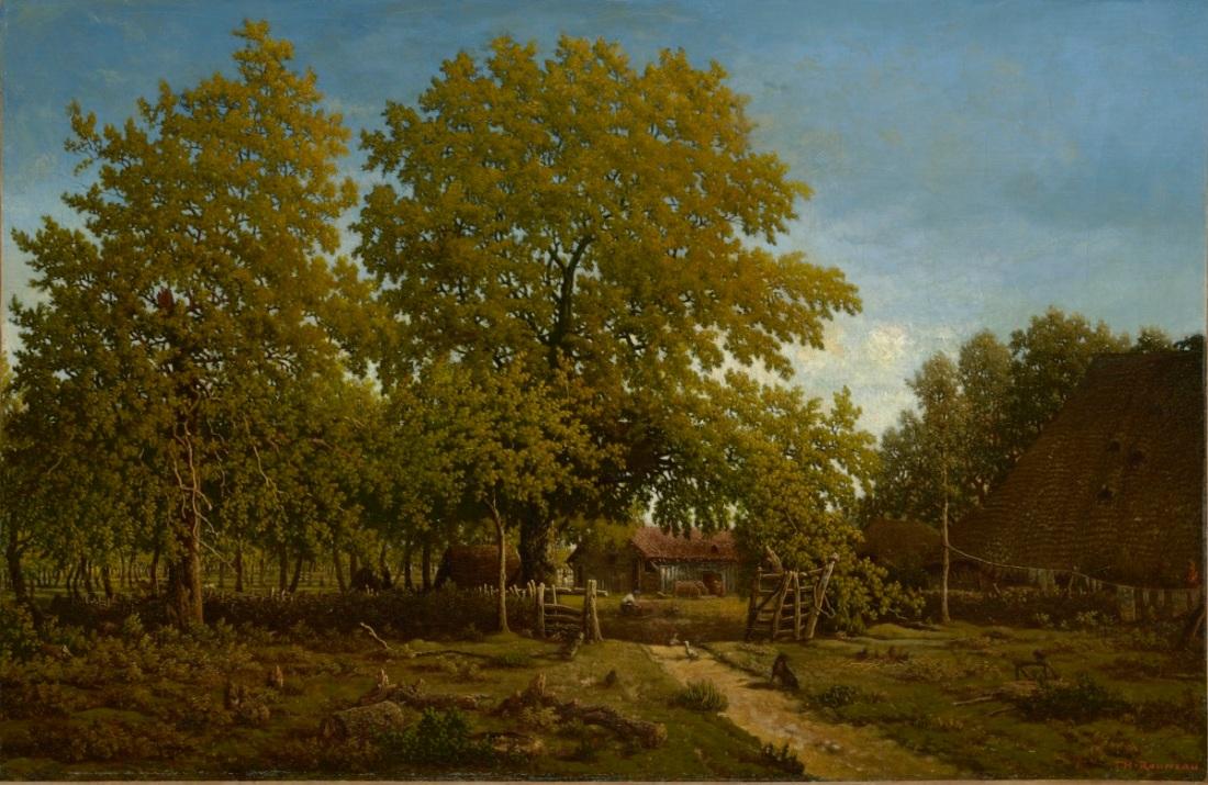 Théodore Rousseau, Farm in Les Landes, ca. 1852-67.