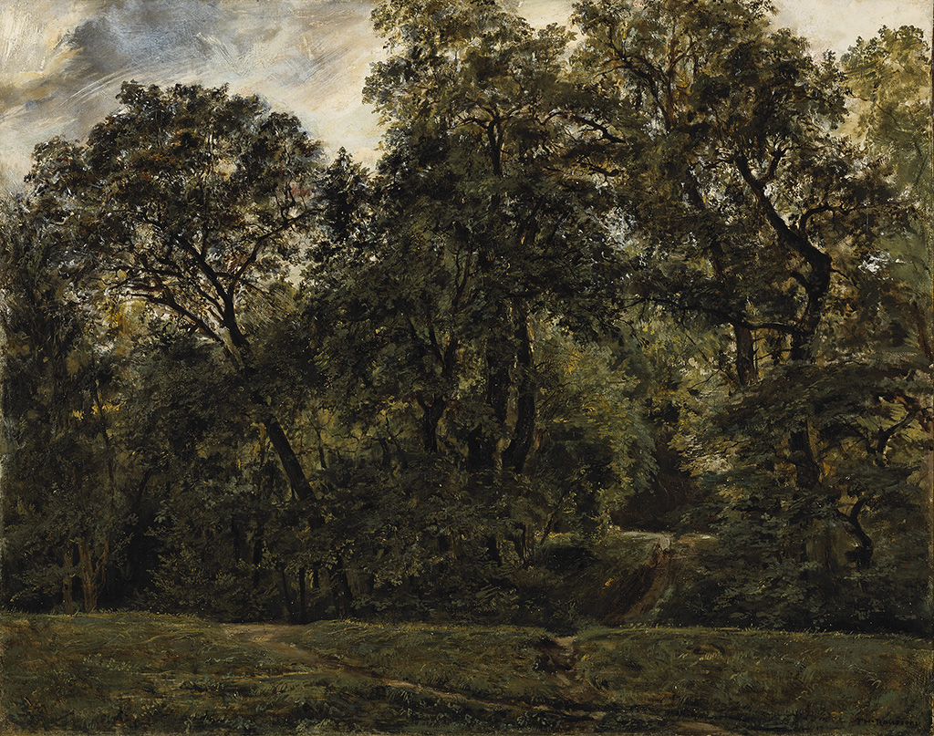 Théodore Rousseau, The Old Parkat St. Cloud,1831-32.