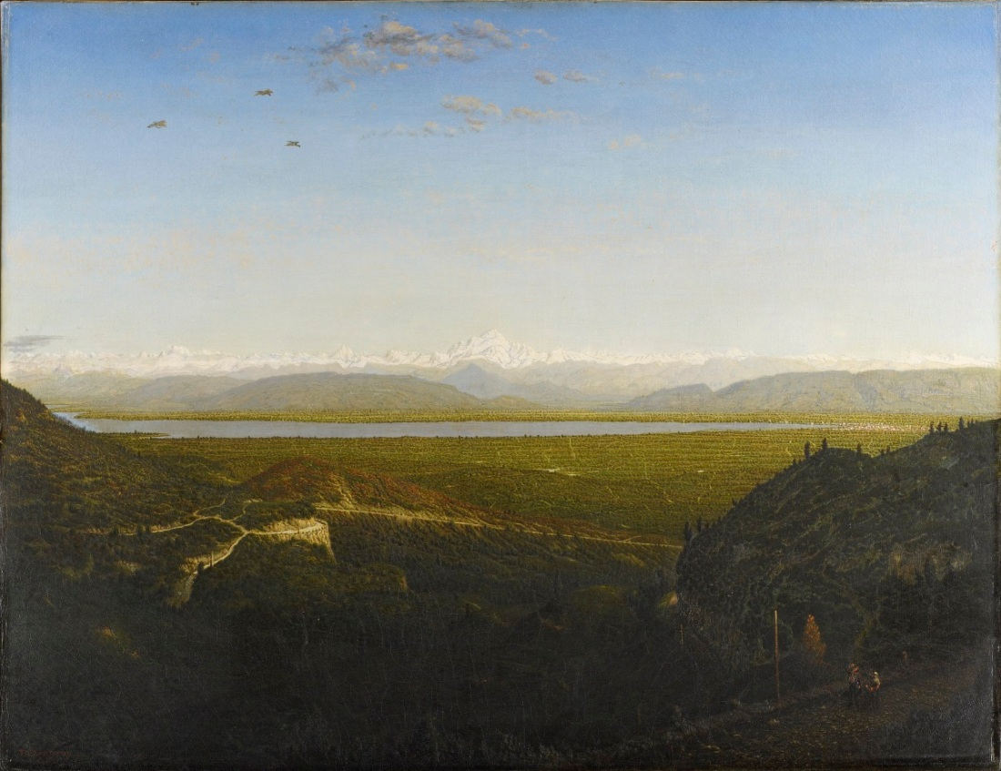 Theodore Rousseau, View of Mont Blanc, 1863-67.