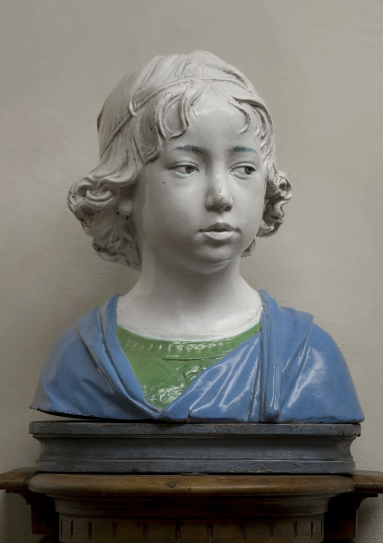 Andrea della Robbia, Bust of a Young Boy, about 1475, Museo Nazionale del Bargello - Florence.