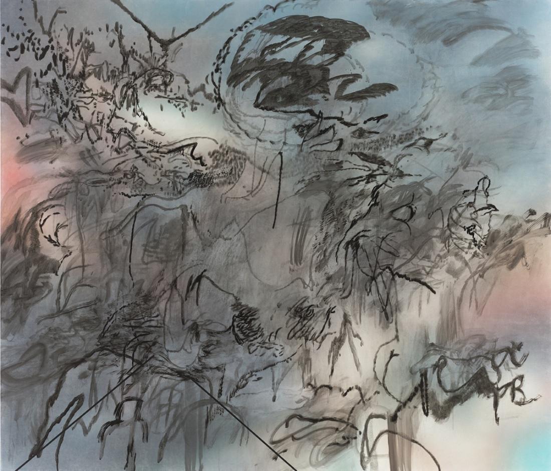Julie Mehretu, Conjured Parts (head), 2016.