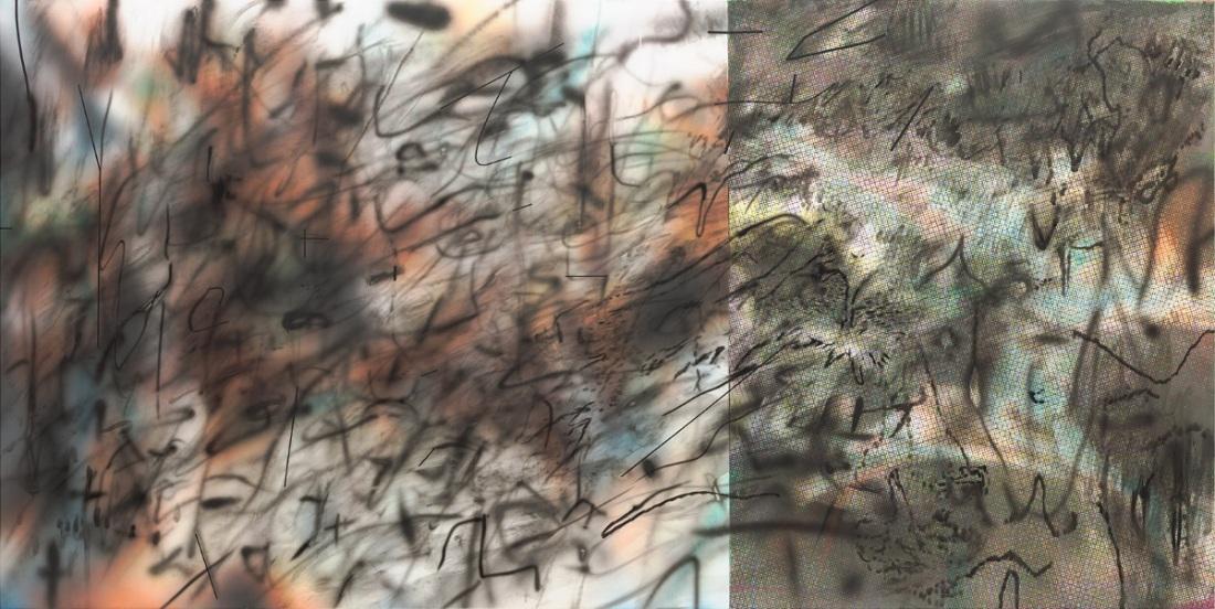Julie Mehretu, Conjured Parts (Syria), 2016.