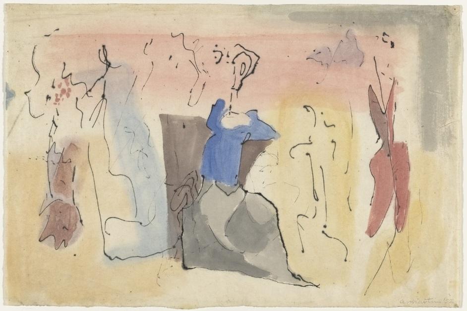 Agnes Martin, Untitled, 1952.