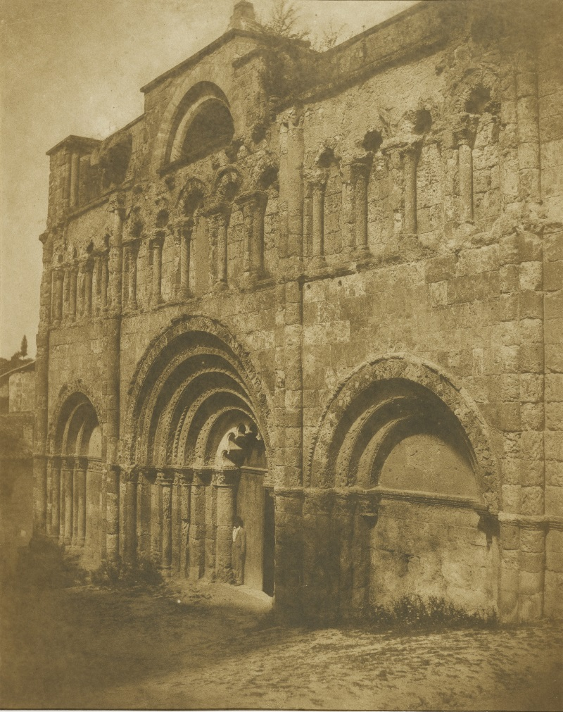 Gustave Le Gray and Auguste Mestral, West Facade, Church of Saint-Jacques, Aubeterre, 1851.