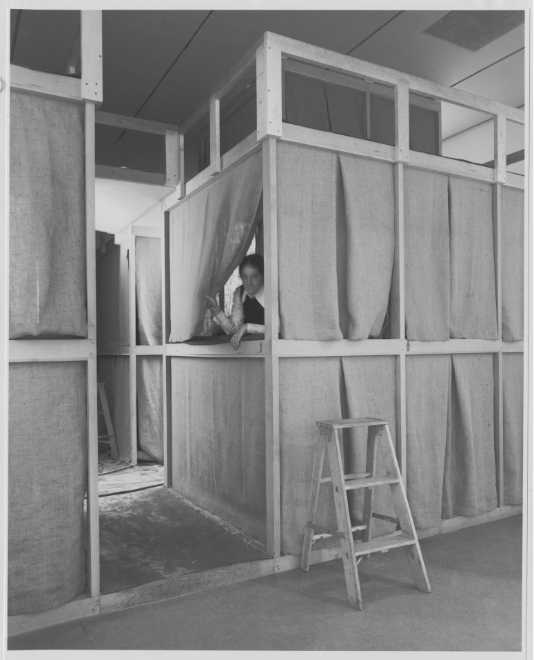 "Hélio Oiticica, Nests, 1970, as installed in ""Information"" at the Museum of Modern Art, New York."