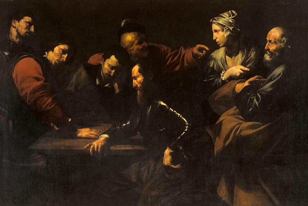 Jusepe de Ribera, The Denial of St. Peter, ca. 1615.