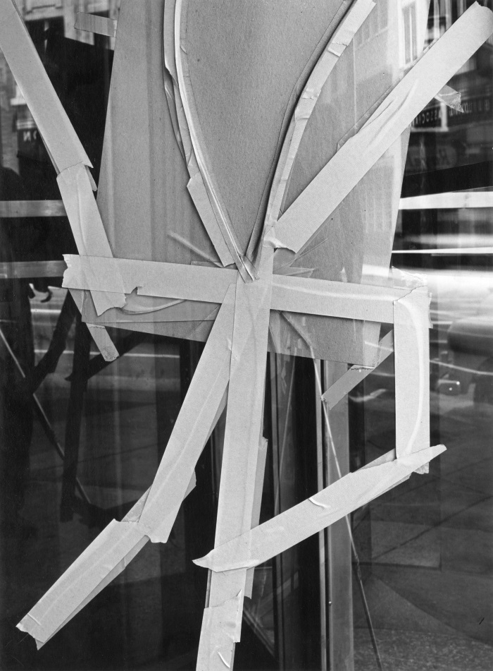 Cranston Ritchie, Untitled [Cracked  window coveredby tape], ca. 1956-61.