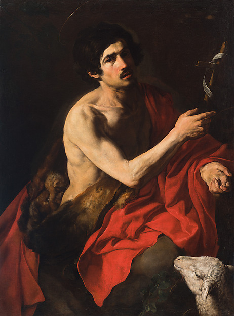 Valentin de Boulogne, Saint John the Baptist, ca. 1613-14.