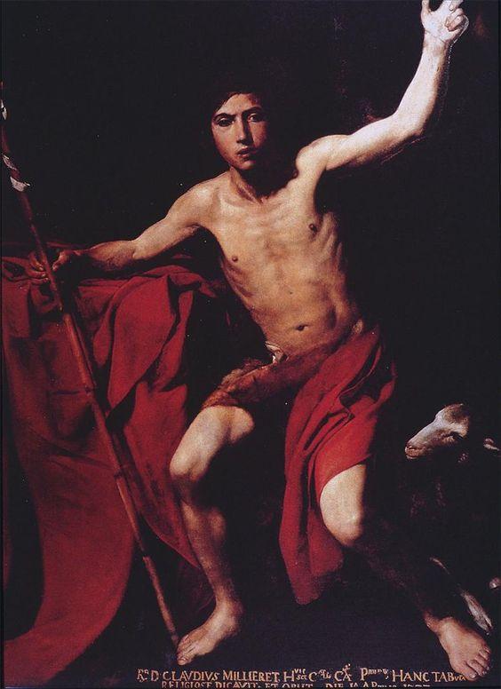 Valentin de Boulogne, Saint John the Baptist, ca. 1620-22.