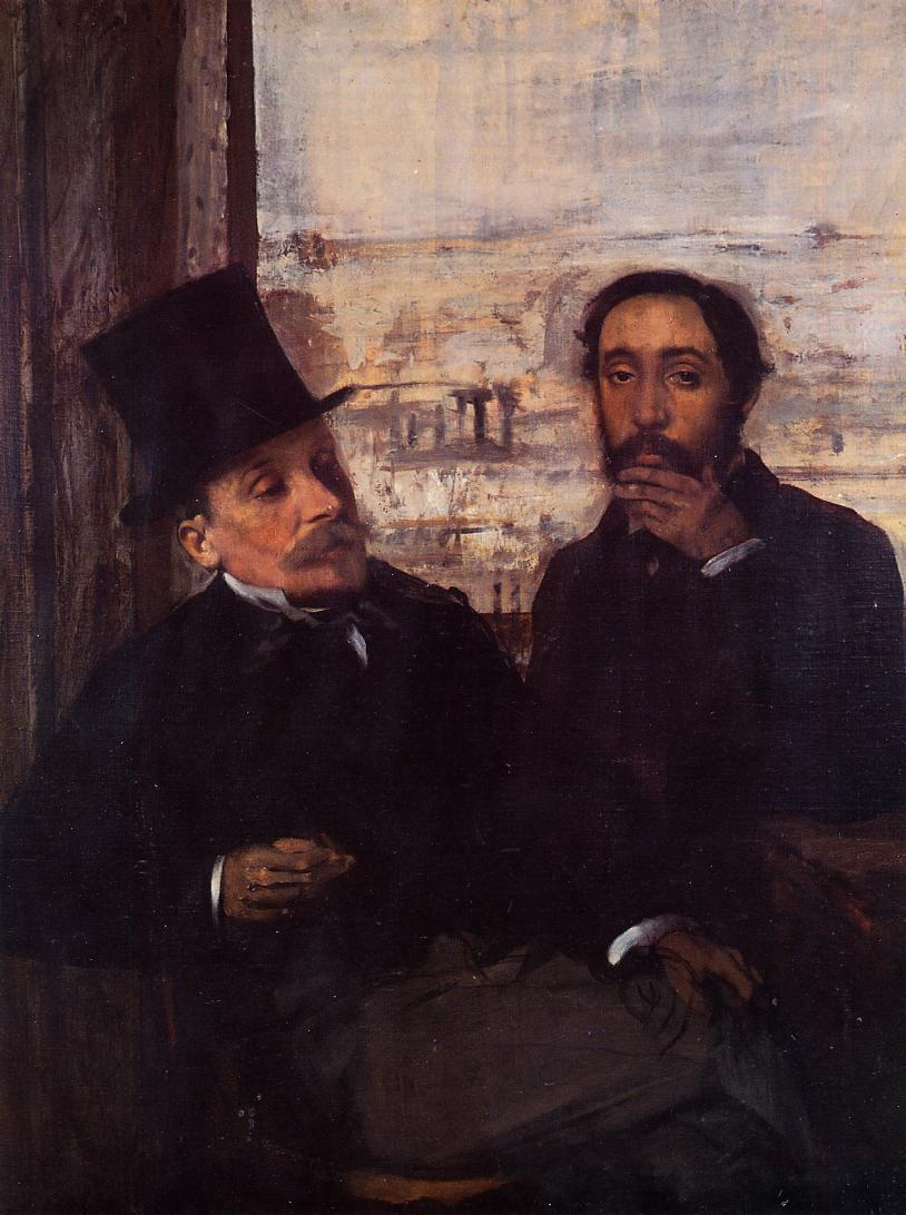 Edgar Degas, Self-Portrait with Evariste de Valernes, 1865.